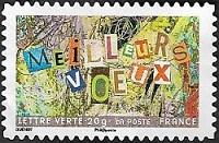 Meilleurs voeux avec collage de lettres