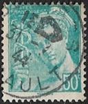 50c turquoise (Postes française)