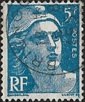 Marianne de Gandon 5F bleu