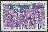 Première réalisation d'un éclairage public à l'électricité Grenoble 14 juillet 1882