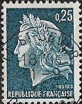 0F25 bleu gravé