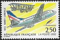 1ére liaison postale aérienne Nancy-Lunéville
