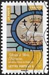 Vitrail de Blois, l'Hermine emblème d'Anne de Bretagne