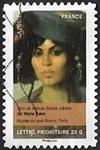 Tête de femme Biskra (détail) par Marie Caire Mus?e du quai Branly, Paris
