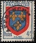 Armoiries d'Anjou - Préoblitéré