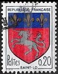 Armoiries de Saint-Lô avec 3 bandes phosphorescentes