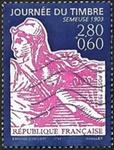 Journée du timbre 1996 La Semeuse 1903 avec surtaxe