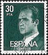 Roi Juan Carlos 30 noir bleu vert
