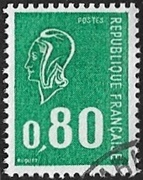 80c vert gravé